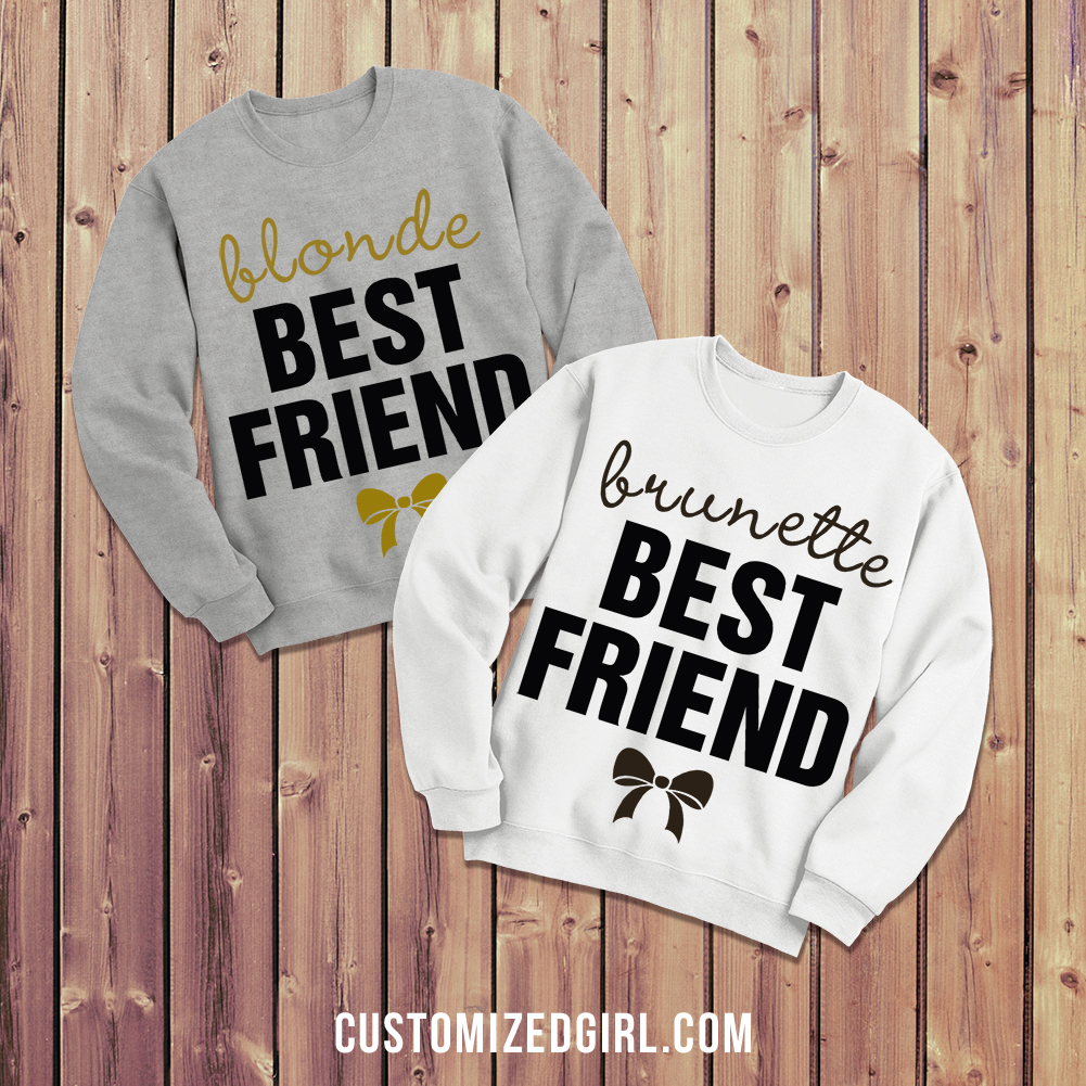 Blonde and Brunette Best Friend Shirts