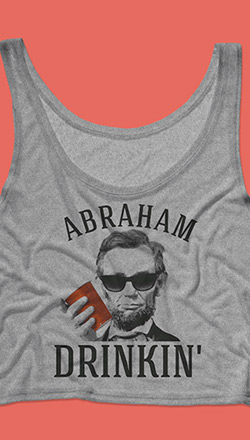 4th Of July Lincoln Crop Top