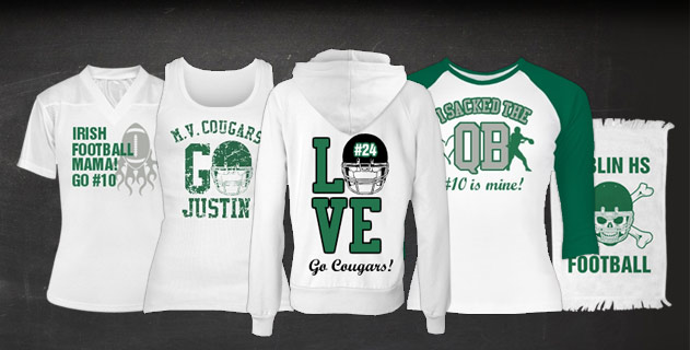 Custom Football Girlfriend Apparel