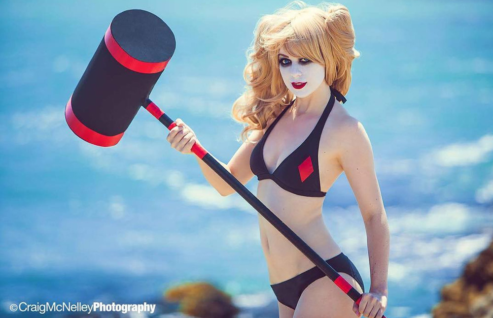 Harley Quinn Red Diamond Bikini