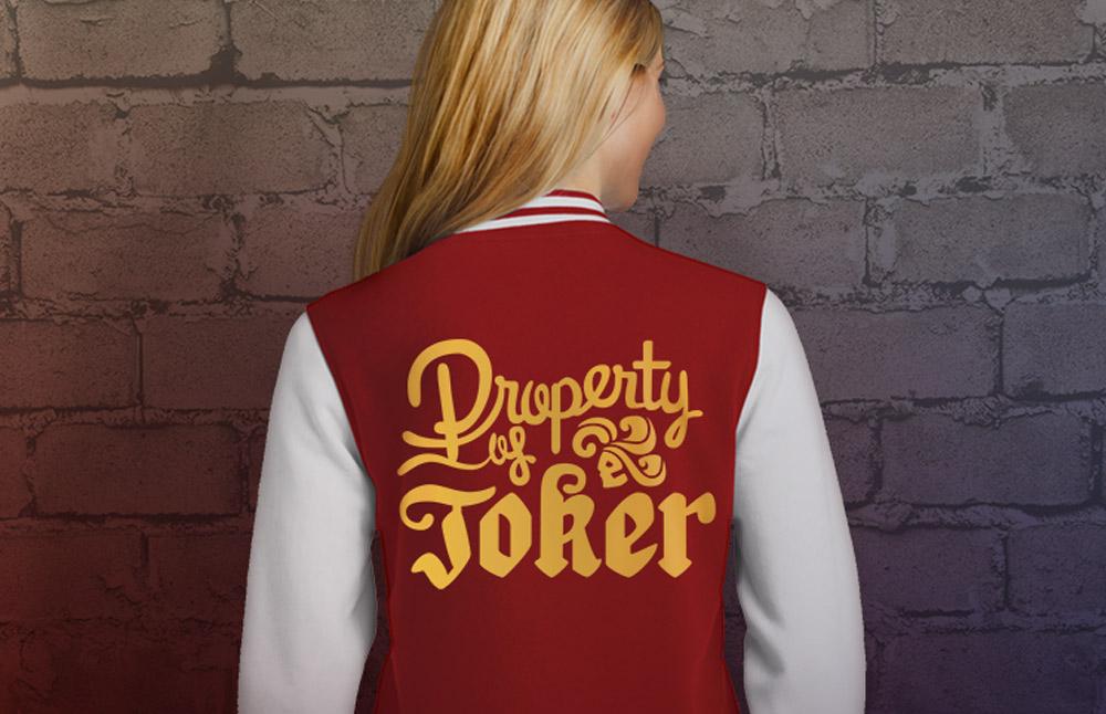 Property Of Joker Letterman Jacket