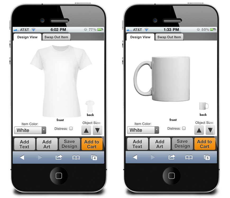 eRetailing Mobile Design Center Example